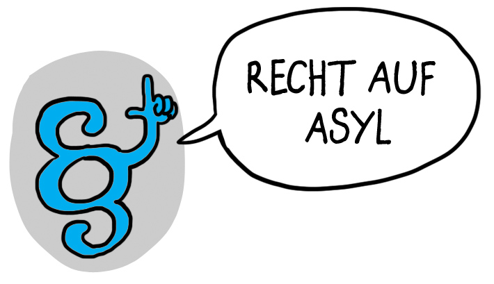Recht auf Asyl, right of asylum, الحق في اللجوء